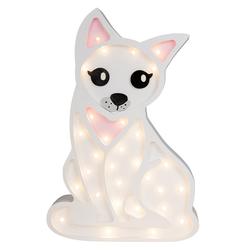 Lampa dziecięca w kształcie kota z różowymi elementami