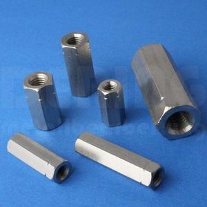 Gewindemuffen M6 X 40 Sechskant Edelstahl A2 (VPE = 10 Stück) | Sechskant-Muffen M6x40 | Langmuttern | Abstandshalter | Schildhalter | Verbindungsmuttern | Distanzmuttern | Verbindungsmuffen