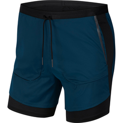 Nike Tech Pack 2 in 1 Laufshorts Herren in midnight turq-black-reflect black, Größe L midnight turq-black-reflect black L