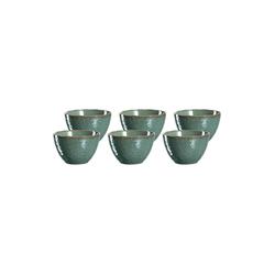 LEONARDO Schale MATERA Keramikschale 15,3 cm grün 6er Set, Keramik, (6-tlg)