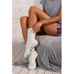 Sympatico ABS-Socken (1-Paar) aus Strick mit rutschfester Sohle grau 35-38