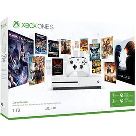 Microsoft Xbox One S 1TB weiß + 3 Monate Game Pass (Starter Bundle)