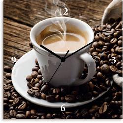 Artland Wanduhr Heißer Kaffee - dampfender Kaffee