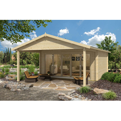 Gartenhaus Enzian-70 mit Vordach Premium, mit Imprägnierung