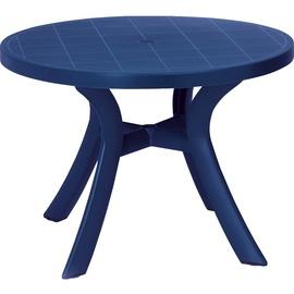 BEST Freizeitmöbel Kansas Gartentisch Ø 100 x 72 cm blau