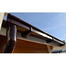 weka Kastendachrinne Größe 3, Set, braun, für Pultdächer bis 400 cm