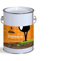 LOBA LOBASOL® Deck & Teak Oil Color Spezialöl, Transparentes Spezialöl für den Außeneinsatz, 2,5 l - Eimer