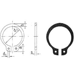 Reely Wellensicherungsring Geeignet für Wellen-Durchmesser: 8mm 20St.