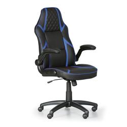 Bürostuhl game, schwarz/blau