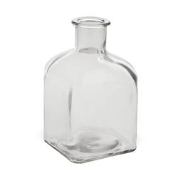 matches21 HOME & HOBBY Blumentopf Vase Flasche Eckig Glas Flasche Glasvase Blumenvase 9 cm (1 Stück) 9 cm x 15.5 cm