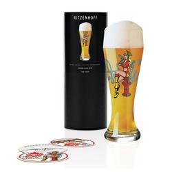 Ritzenhoff Bierglas Weizenbierglas Steven Flier 500 ml, Kristallglas weiß