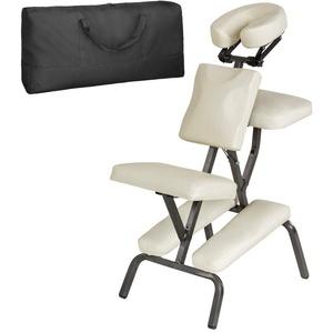 tectake Massagesessel Massagestuhl aus Kunstleder (1-St) natur
