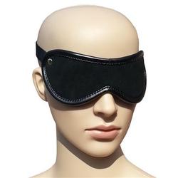 Bondage Designer Leder Augenmaske Augenbinde schwarz