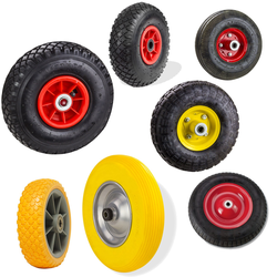 PU Luft Schubkarrenrad Sackkarrenrad Ersatzrad Reifen Rad, Modell: Modell 6 Sackkarrenrad