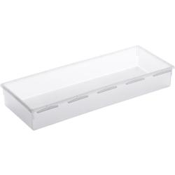 Rotho BASIC Schubladen-Ordnungssystem, transparent, Schubladen-Ordnungssystem aus Kunststoff , Maße: 380 x 150 x 50 mm