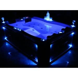 Outdoor Whirlpool Hot Tub mit Heizung Ozon LED für 2 - 3 Personen VIELE FARBEN