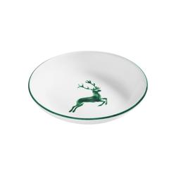 Gmundner Keramik Speiseteller Suppenteller Cup Hirsch grün