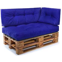 Easysitz Sitzkissen Palettenkissen Set 3, 120 x 80 cm für Europaletten blau
