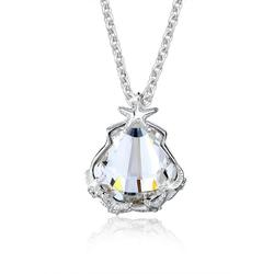 Elli Collierkettchen Muschel Seestern Kristalle 925 Silber