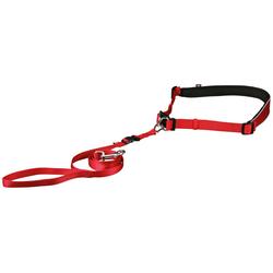 Bauchgurt mit Hundeleine, Leinenlänge: 120 cm rot