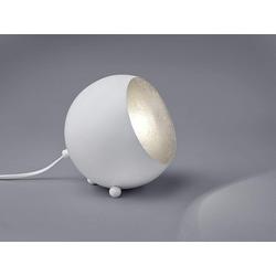 TRIO LED Tischleuchte, kleine Kugel Metall Tisch-Lampe für Wohnzimmer, Fensterbank, Schlafzimmer, Schreibtisch weiß