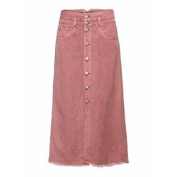 Herrlicher Jeansrock Palita mit Zierknöpfen rosa 30