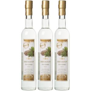 Dolomiti Zirben-Schnaps Premium Spirituose 40% vol.   Original Zirbenschnaps   3 x 0.5 Liter, 3072