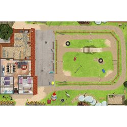 STIKKIPIX Spielmatte SM19, Ponyhof Spielmatte (hnlich Spielteppich), Hochwertige Spielmatte für das Kinderzimmer