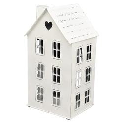 matches21 HOME & HOBBY Kerzenhalter Windlicht Haus mit Schornstein und Dachfenster in Herzform
