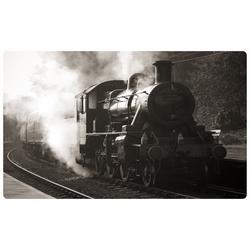 DesFoli Wandtattoo Dampflok Eisenbahn R2121 bunt 110 cm x 70 cm