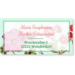 Hochzeitskartenset Hochzeitsblumen (10 Karten) selbst gestalten, Hochzeitsblumen - Mint - Grün