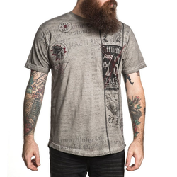 AFFLICTION T-Shirt mit auffälligem Print grau M