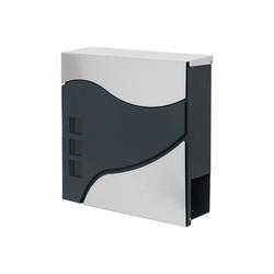 MCW Briefkasten MCW-B31, Zylinderschloss, Inkl. 2 Schlüsseln und Montagematerial weiß