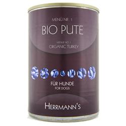 (7,16 EUR/kg) Herrmanns Bio Pute mit Reis und Gemüse 400 g - 12 Stück