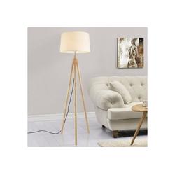 lux.pro Stehlampe, Stylische Stehleuchte Tomar mit 3-füßigem Holzgestell