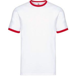 Fruit of the LoomHerren T-Shirt Mehrfarbig White/Red