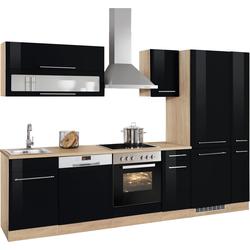HELD MÖBEL Küchenzeile Eton, ohne E-Geräte, Breite 300 cm schwarz
