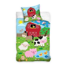 Kinderbettwäsche Bauernhof - Kinder-Bettwäsche-Set, 135x200 & 80x80 cm, TOP!, 100% Baumwolle