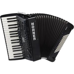 Hohner Bravo III 72 silent key schwarz Akkordeon