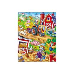 Larsen Puzzle 2er-Set Rahmen-Puzzle, 16 Teile, 28x18 cm,, Puzzleteile