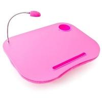 Relaxdays Laptopkissen mit Licht pink