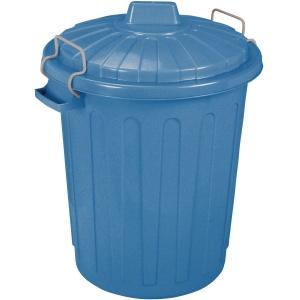 CURVER Oscar-Tonne Aufbewahrungstonne, 23 Liter, Mülltonne aus Kunststoff, Farbe: blau