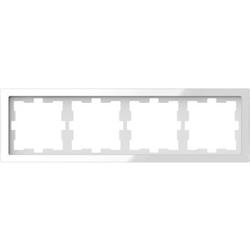 Merten MEG4040-6520, D-Life Glas Rahmen, 4fach, Kristallweiß
