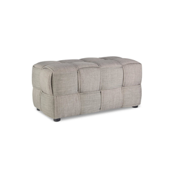 Homestyle4u Polsterhocker, Sitzhocker Grau Sitzwürfel 86 cm x 40 cm x 43 cm