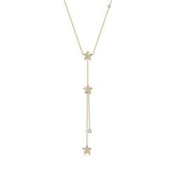 Elli Collierkettchen Sterne Y-Kette Swarovski® Kristalle Silber