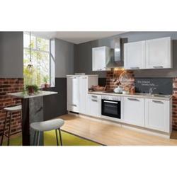 Menke Küchen Küchenzeile Premium White Landhaus 300 cm