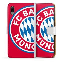 DeinDesign Handyhülle Großes FCB Logo Rot Huawei Y6 (2019), Hülle FC Bayern München Offizielles Lizenzprodukt FCB weiß