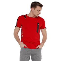 Cipo & Baxx T-Shirt mit Design Application rot XXL