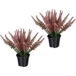Künstliche Zimmerpflanze Erikabusch Erikabusch, Creativ green, Höhe 26 cm, 2er Set weiß