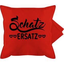 Shirtracer Kissenbezug Schatzersatz - schwarz - Bedruckte Kissenhülle Kissen ohne Füllung